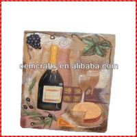 Attractive custom fruit and wine decorative kitchen wall plaques