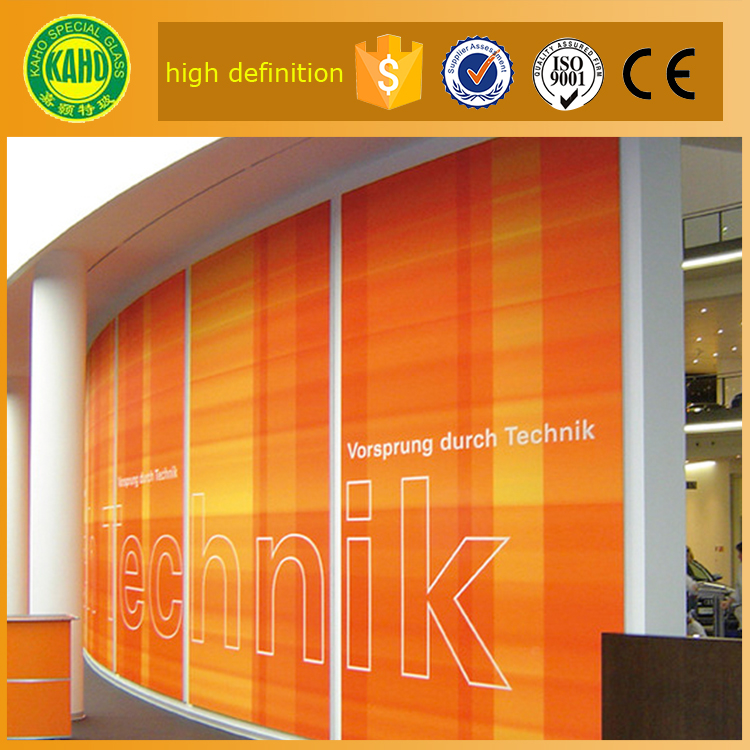 6mm 8mm 1440 dpi large scale tempered laminated decorative laser printing on glass for glass partition wall