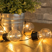 Classic Solar Waterproof Warm White Retro Bulb String Light for outdoor and garden decoration