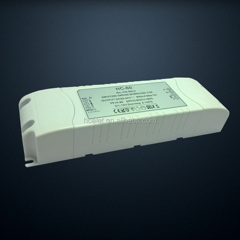 60w constant current dimmable led driver 1500ma for 600x600 led panel light