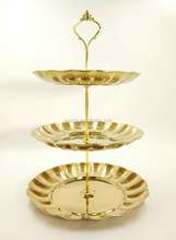 Gold Stainless Steel 2/3 layer Cake Dessert Candy Fruit Plate Stand