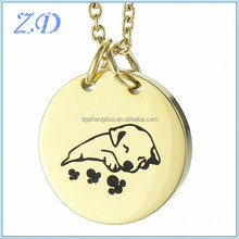 Cheap Round shape ashes pendants Animal dog memorial puppy pet cremated remains urns