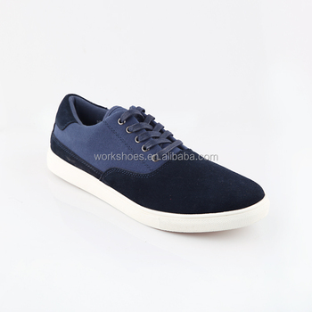 New Design Custom Made Lace Up Flat Blue Two Tone Comfortable Men Casual Shoes