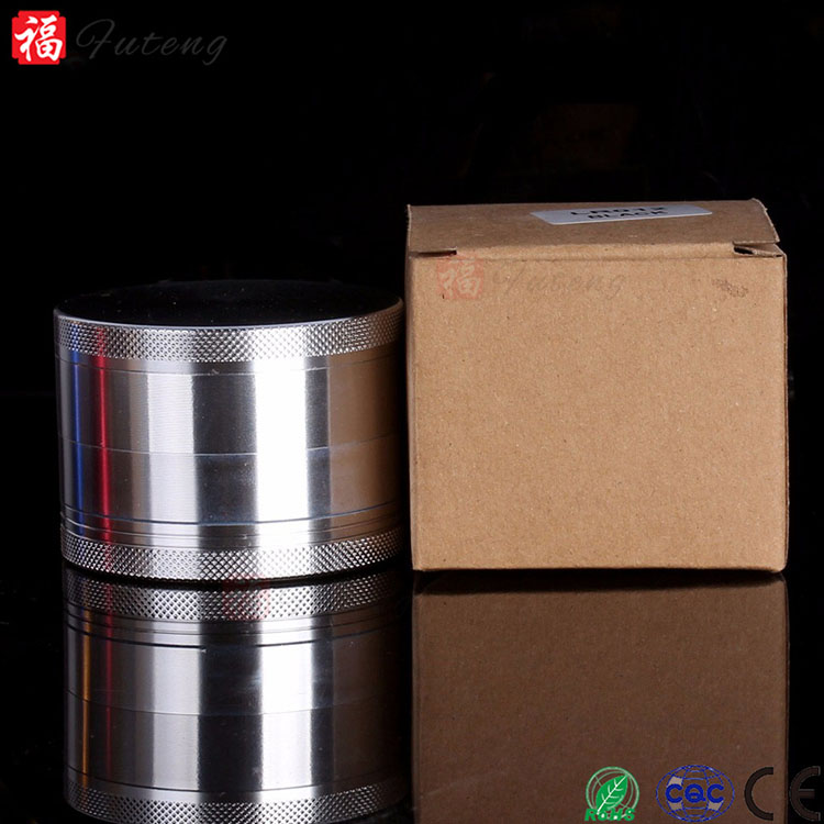 Futeng 63mm Larger CNC Tobacco Grinder Fashionable aluminium 4 Parts Herb Grinder