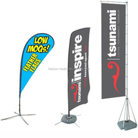 Cheap large outdoor advertising rectangular flags and banners suppliers with telescopic aluminum pole