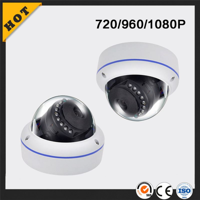 Wireless network ip camera 720p hd 12pcs New High Brightness LEDs Metal Vandalproof Dome ip Camera