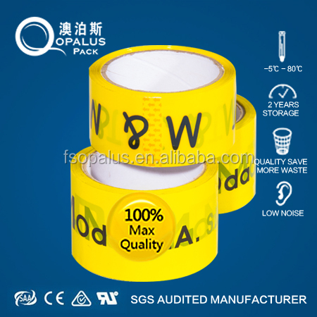 Alibaba HotSell food grade Colorful Parcel Opp Tape