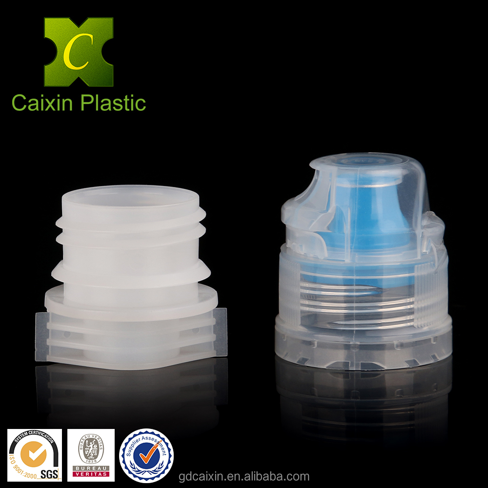 Anti theft cap and bottle screw cap spout for drinking water