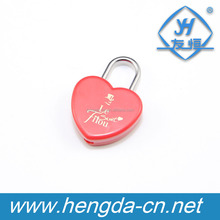 YH1601 red Mini Heart Lock With Keys, Heart Shape Lock with Key