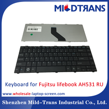 Wholesale laptop replacing Keyboard for Fujitsu lifebook AH531 RU layout