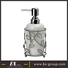 BX group liquid soap dispenser zinc alloy pump with wire rack for bathroom