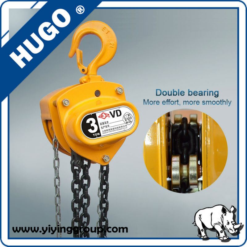 0.5T -20T CD-C Manual Chain Hoist Lifting Block, Specifications Of Chain Block