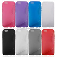 2015 hot S line TPU case for apple iphone 6