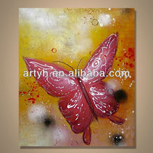 Popular Modern Handpainted Oil Painting Pictures of Butterfly