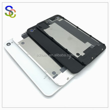 NEW Back Cover For iPhone 4/4S Back Housing Battery Cover Door Rear Panel Plate Glass Case 4G Body For Apple iPhone 4S Housing
