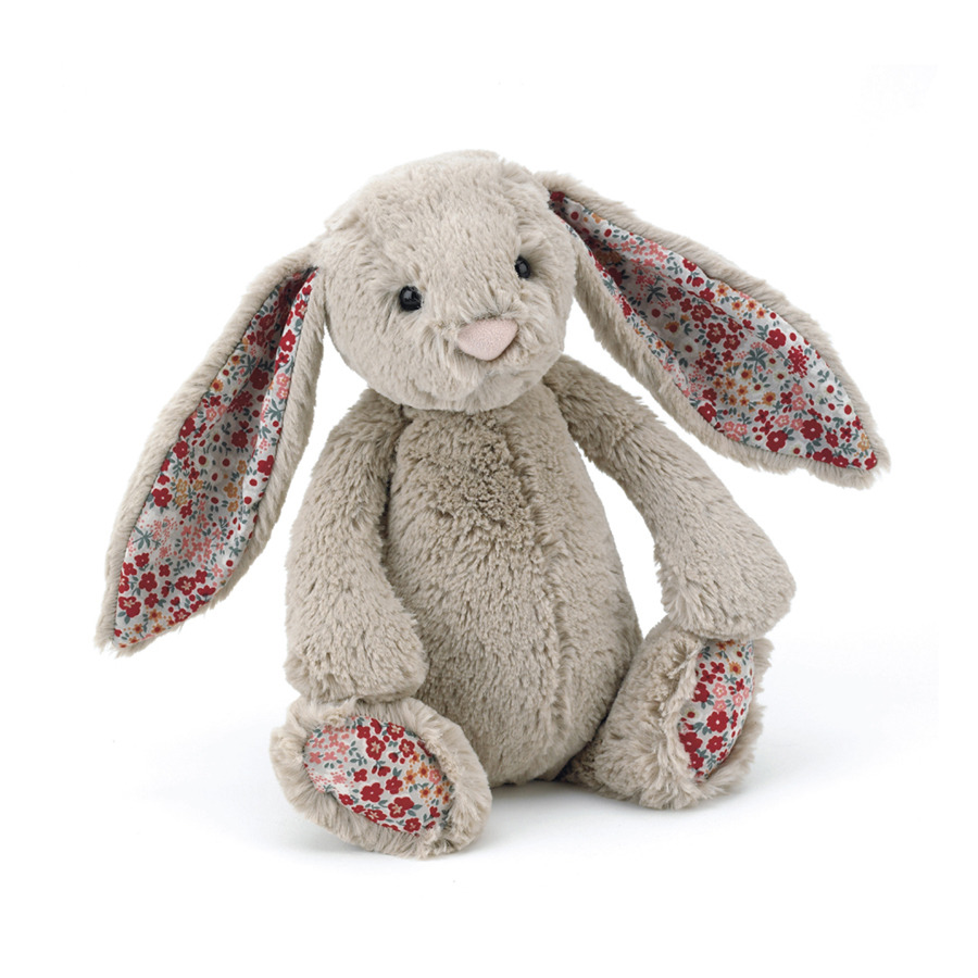 Soft Adorable BLOSSOM Plush Bunny Cuddly Stuffed <strong>Rabbit</strong> With Flower Ears Feet Toy Easter Gift For Baby Toddler Girlfriend Kid