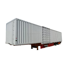 Enclosed Cargo Trailer Dry Van Semi Trailer 3 Axles Box Cargo Trailer