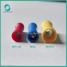 Copper/PVC/Brass 1.5-6mm2 BV series cable termination lug male female insulated terminal lugs