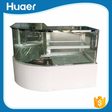 Hot sale Corner cake display cabinet refrigerator 0~10 degree bakery display case