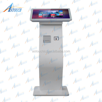 21.5 inch Wholesale self service android tablet kiosk with scanner