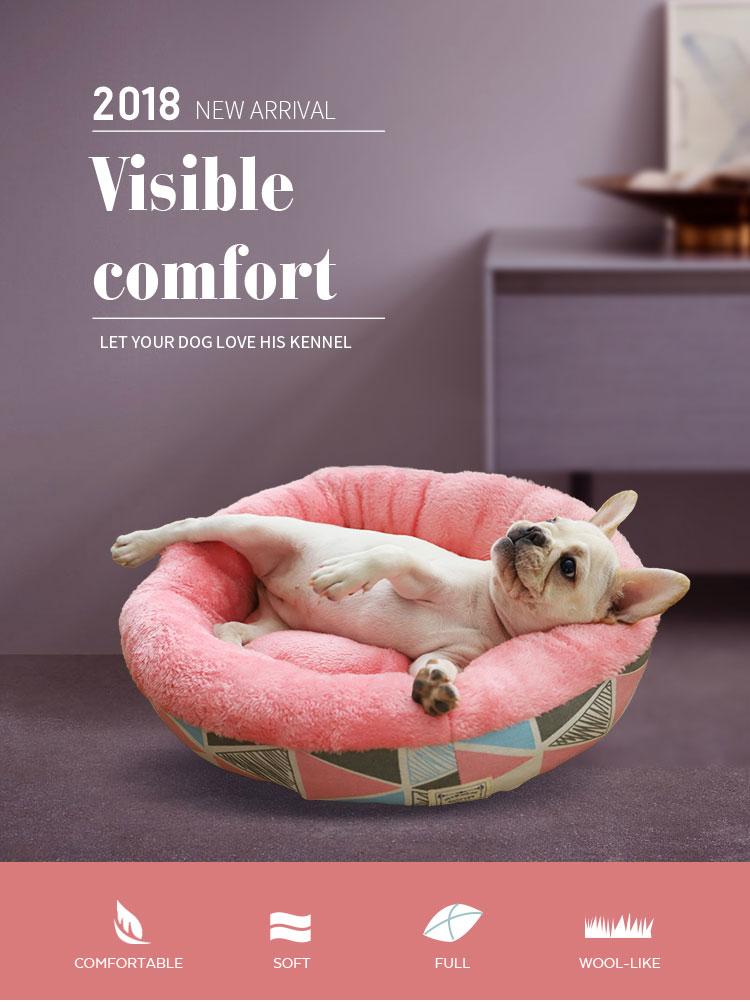Tianyan Pet Pink Luxury Cotton Soft Dog Bed