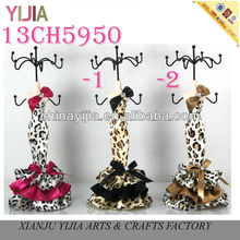 Leopard Print Sexy Bowknot Jewelry Displays Window