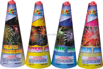 "6"" inch China Conic Fountain Fireworks, conic crackling pyrotechnics for party, 1.4g consumer fountain conic fireworks"