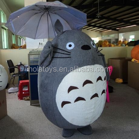 Realistic totoro mascot costume for sale/cosplay big totoro costume for show
