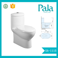 Siphonic washdown One Piece Watermark Toilet manufacturer