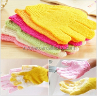 Nylon single color bath gloves exfoliate exfoliating glove remove dead skin