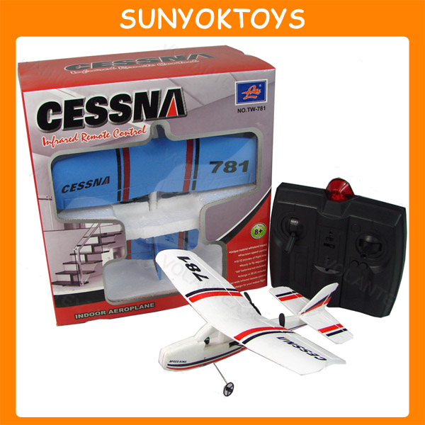 Cessna 781 2CH Micro Indoor RC Plane, Radio Controlled Airplane