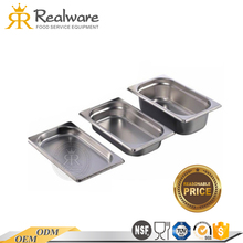 Lowest price stainless steel gastronom container gn pan 1/1 with long life