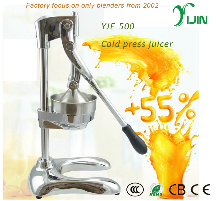 High quality hand operated cold press juicer machine