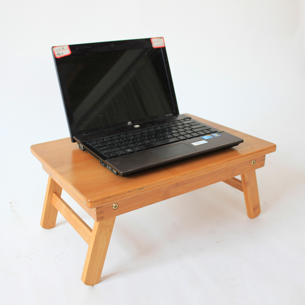 2016 cheap bamboo folding laptop bed desk