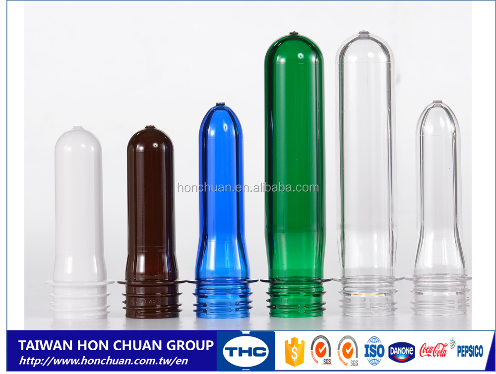Transparent color 28 MM Cold Filling and Hot Filling PET bottle preform