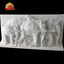 White Marble Animal Carving Relief For Home