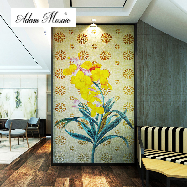 Glass Mosaic Wall Art Murals Mosaic Fireplace Bathroom Tiles Parquet ...