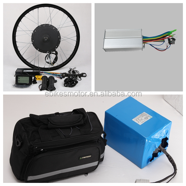 48v 2000w electric bike motor conversion kit with 48v 20ah lithium battery