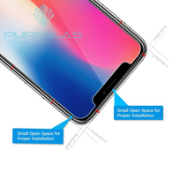 High quality,clear view diamond printed super shieldz screen protector for iphone X