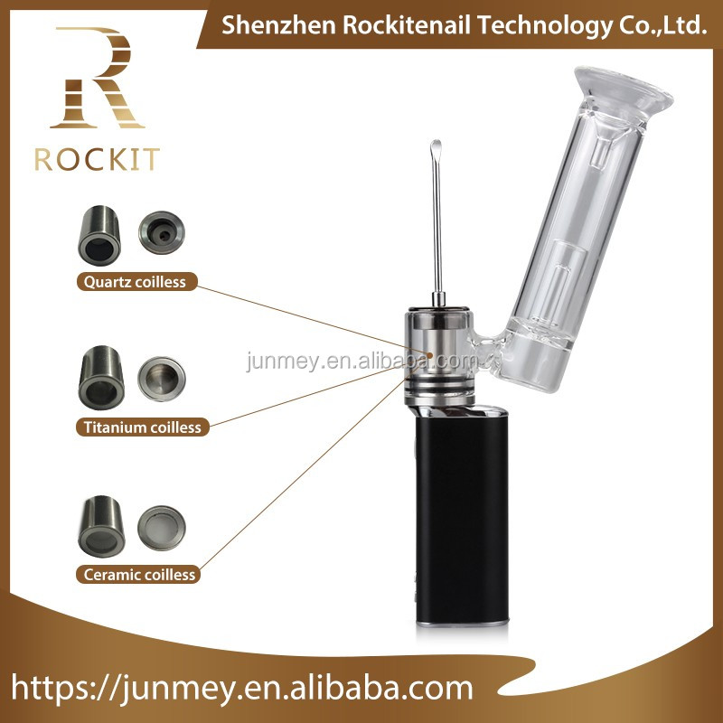 Electric cigarette Top selling products in alibaba wax Portable rockit dab rig kit with cheap price