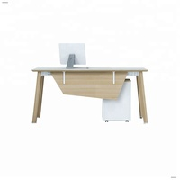 Wooden office table design space saving furniture gaming computer desks