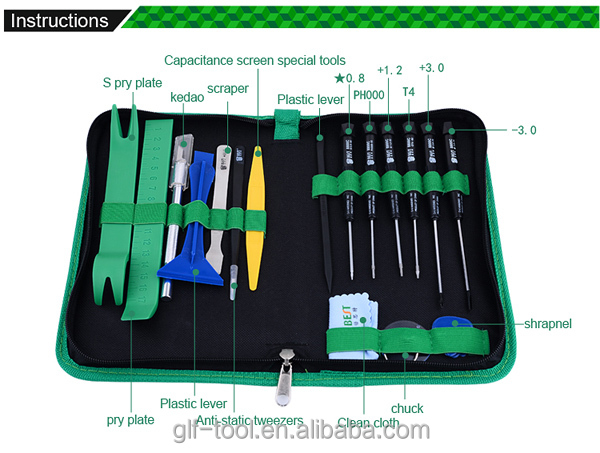 22pcs tools in 1 computer laptop screwdriver repair tool