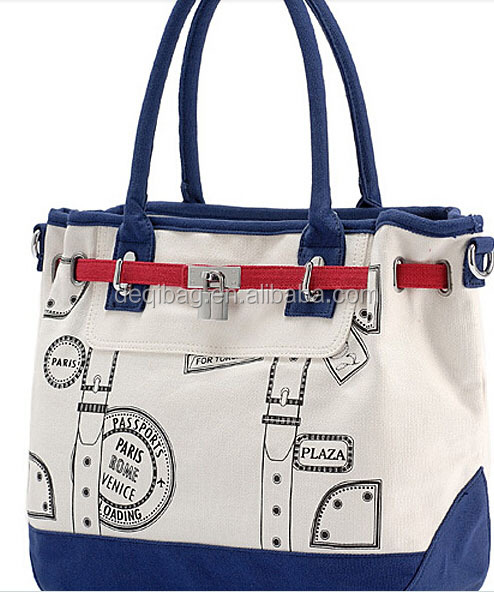canvas vintage London style hand bag for lady