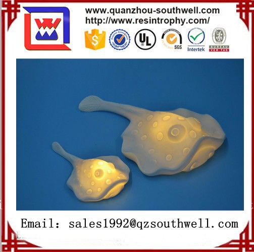 2017 Antique souvenir Ceramic Seahorse statue with LED