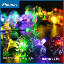 2V 100MA Solar Panel Light String Color Changing Flicker Morning Glory LED Lamp