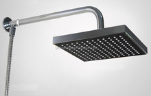 2016 hot sale square black ABS shower head