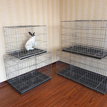 attractive heavy duty wire black foldable dog crate dog kennel