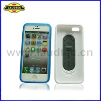 for iphone5 PC hard case with PU stand