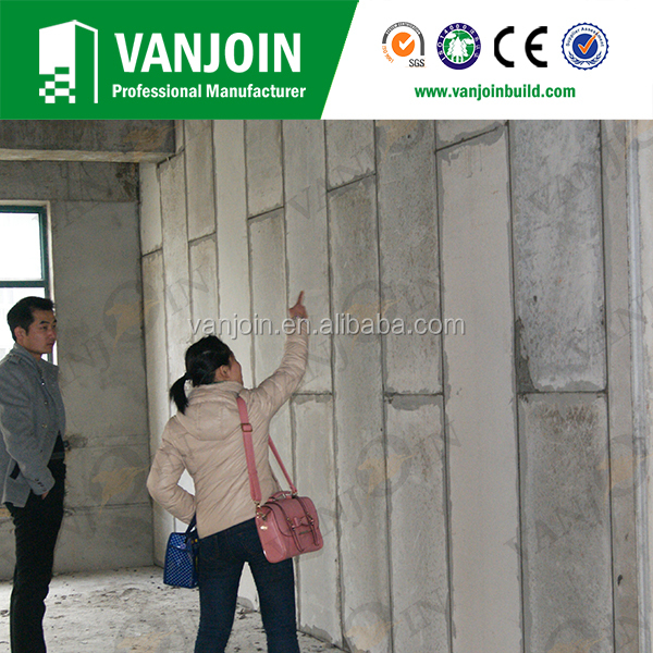 Light Weight Precast Concrete Wall Panels for Low Cost Kit House