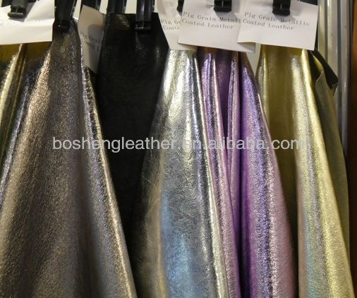 METALLIC REAL LEATHER FOR BAG